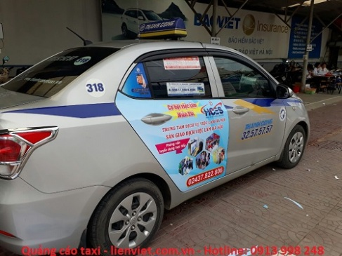 quảng cáo xe taxi